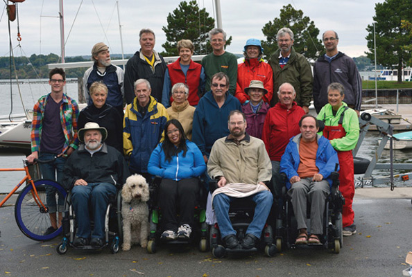 Group photo of Able Sail Volunteers